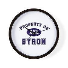 Property of byron Wall Clock