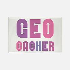Geocacher Arrows Pinks Rectangle Magnet