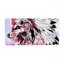 lone wolf Aluminum License Plate