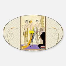 Laptop-ArtDecoBarbier- JudgmtOfPari Sticker (Oval)