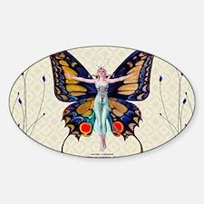 Laptop-ArtDeco FX Leyendecker-Flapp Sticker (Oval)