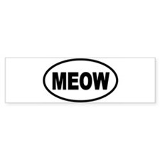 MEOW1 Bumper Car Sticker