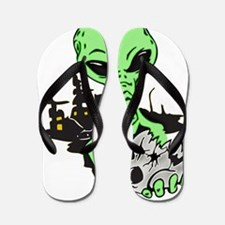 aliens_ufo_011 Flip Flops