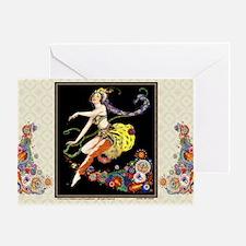 Laptop-ArtDecoPogany-Dancer Greeting Card