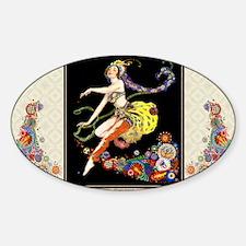 Laptop-ArtDecoPogany-Dancer Sticker (Oval)