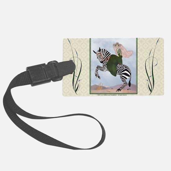 Laptop-ArtDecoMarty-Zebra Luggage Tag