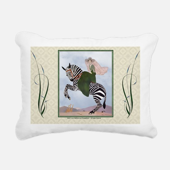 Laptop-ArtDecoMarty-Zebr Rectangular Canvas Pillow