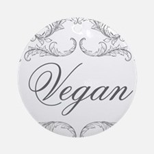 vegan-04 Round Ornament