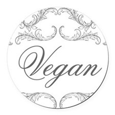 vegan-04 Round Car Magnet