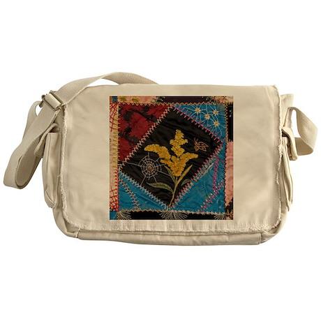 crazy quilt square Messenger Bag
