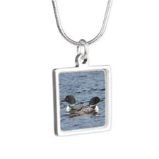 2.75x2 eight Silver Square Necklace