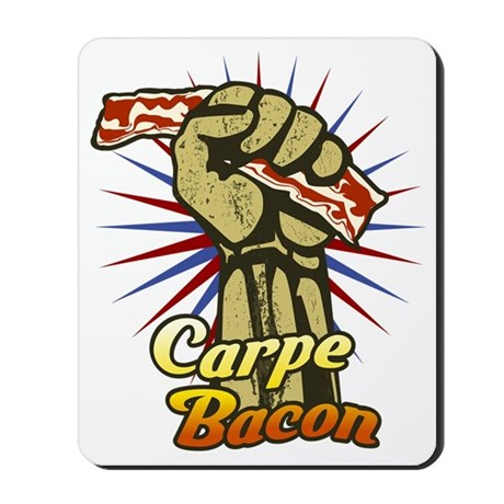 Carpe Bacon-blk Mousepad