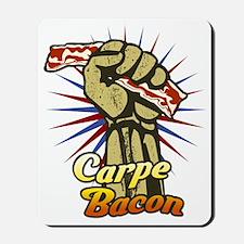 Carpe Bacon-blk Mousepad