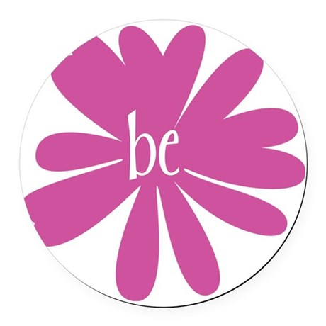 be_flower Round Car Magnet