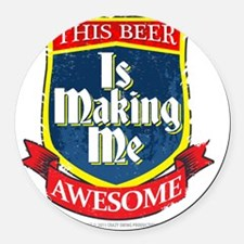 makingmeawesome Round Car Magnet