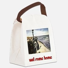 planet of the apes welcome home w Canvas Lunch Bag