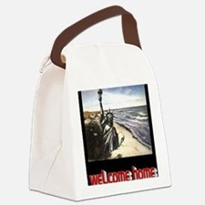 planet of the apes welcome home b Canvas Lunch Bag