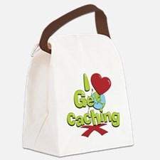 geocaching BUTTON Canvas Lunch Bag