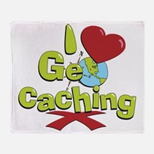 geocaching BUTTON Throw Blanket