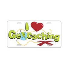 geocaching 2 Aluminum License Plate