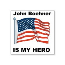 "Boehner John herol Square Sticker 3"" x 3"""