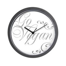 go-vegan-01 Wall Clock