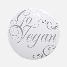 go-vegan-01 Round Ornament