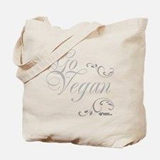 go-vegan-white-01 Tote Bag