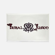 Tribal Fusion Logo Rectangle Magnet