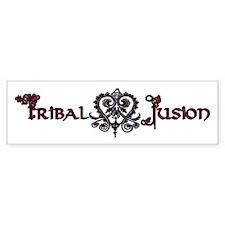 Tribal Fusion Logo Bumper Bumper Bumper Sticker