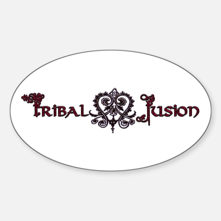 Tribal Fusion Logo Oval Decal