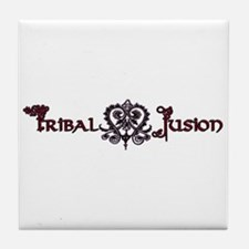 Tribal Fusion Logo Tile Coaster