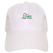 Vegan with all my Heart Baseball Cap
