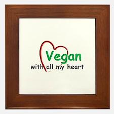 Vegan with all my Heart Framed Tile