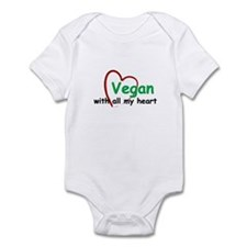 Vegan with all my Heart Infant Bodysuit