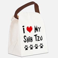 I-Love-My-Shih-Tzu Canvas Lunch Bag
