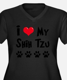 I-Love-My-Sh Women's Plus Size Dark V-Neck T-Shirt