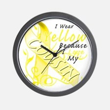 I Wear Yellow Because I Love My Cousin Wall Clock