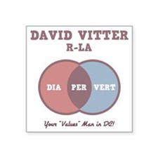 "vitter-venn-LTT Square Sticker 3"" x 3"""