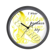 I Wear Yellow Because I Love My Friend Wall Clock