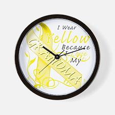 I Wear Yellow Because I Love My Grandma Wall Clock