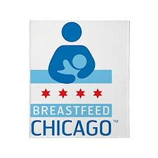 Breastfeed_Chicago_Logo_Æ?RGB-CafePr Throw Blanket