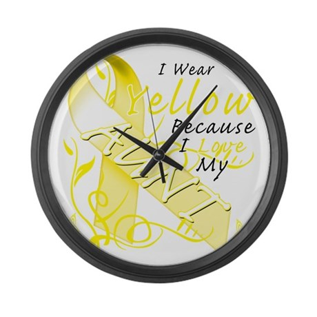 I Wear Yellow Because I Love My A Large Wall Clock