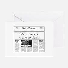 Math Teacher Pun Greeting Cards (Pk of 10)