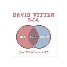 """vitter-venn-DKT Square Sticker 3"""" x 3"""""""