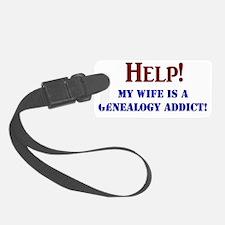 MARRIEDgenealogistFINAL Luggage Tag