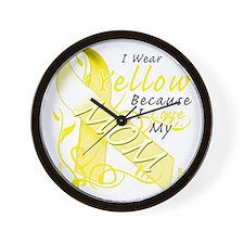I Wear Yellow Because I Love My Mom Wall Clock