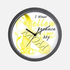 I Wear Yellow Because I Love My Mom Wall Clock
