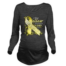 I Wear Yellow Becaus Long Sleeve Maternity T-Shirt