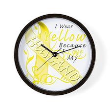 I Wear Yellow Because I Love My Husband Wall Clock